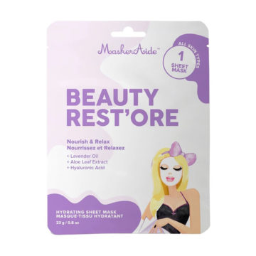 Masque Tissu Nourrissant Beauty Rest'ore de MaskerAide
