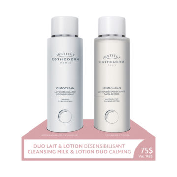 Esthederm cleansing milk and lotion for sensitive skin