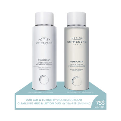 Esthederm cleansing milk and lotion for dehydrated skin