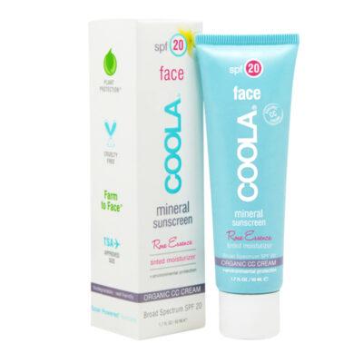 COOLA Écran Solaire Minéral Visage CC Crème Hydratant Teinté FPS20