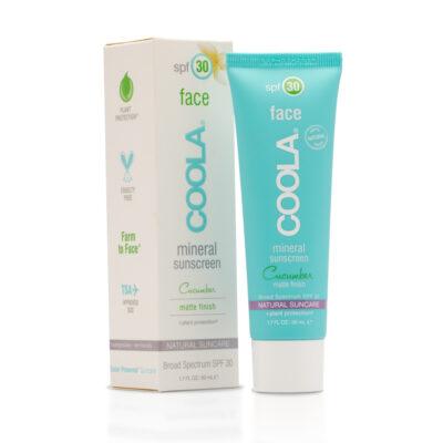 COOLA Écran Solaire Minéral Visage Hydratant FPS30 - Concombre