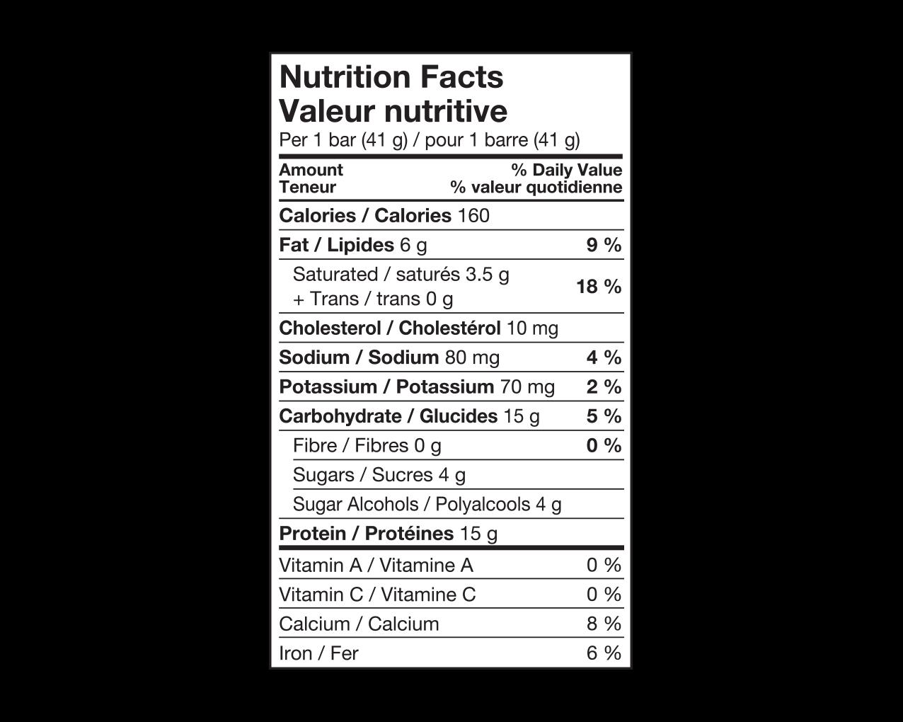 IdealProtein-Barre-caramel-et-arachides-Valeur-Nutritive