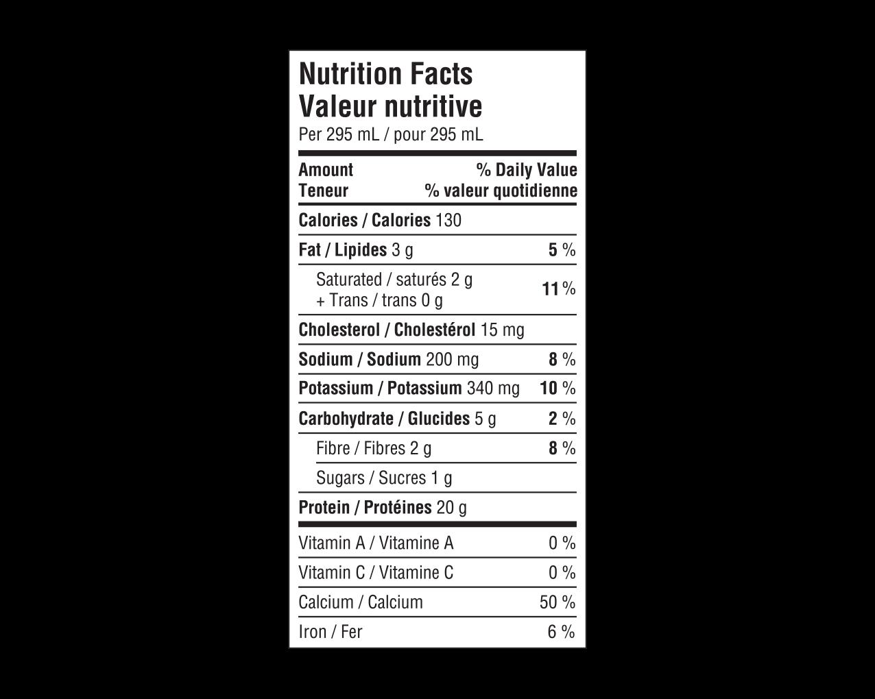 IdealProtein-Boisson-chocolat-Prêt-à-servir-Valeur-Nutritive