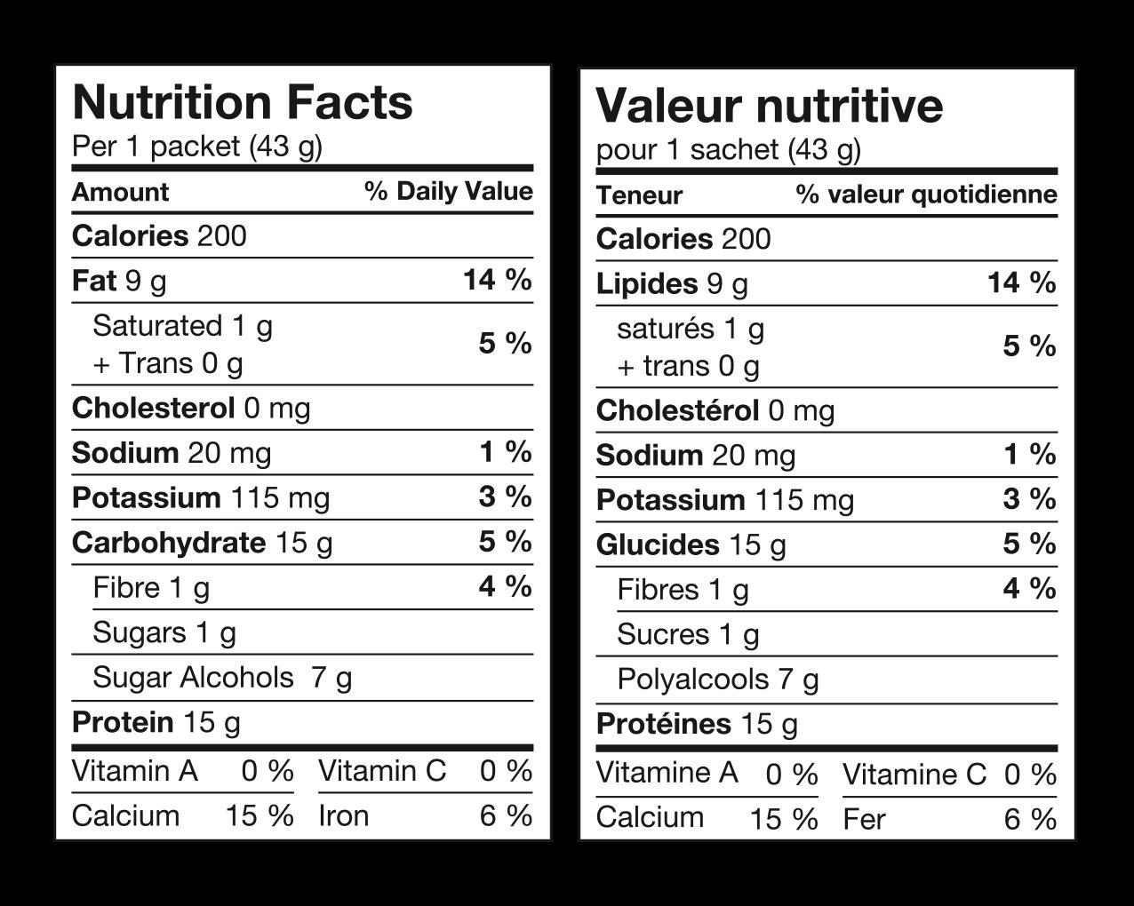 Ideal Protein Boules de soja chocolatées Valeur Nutritive