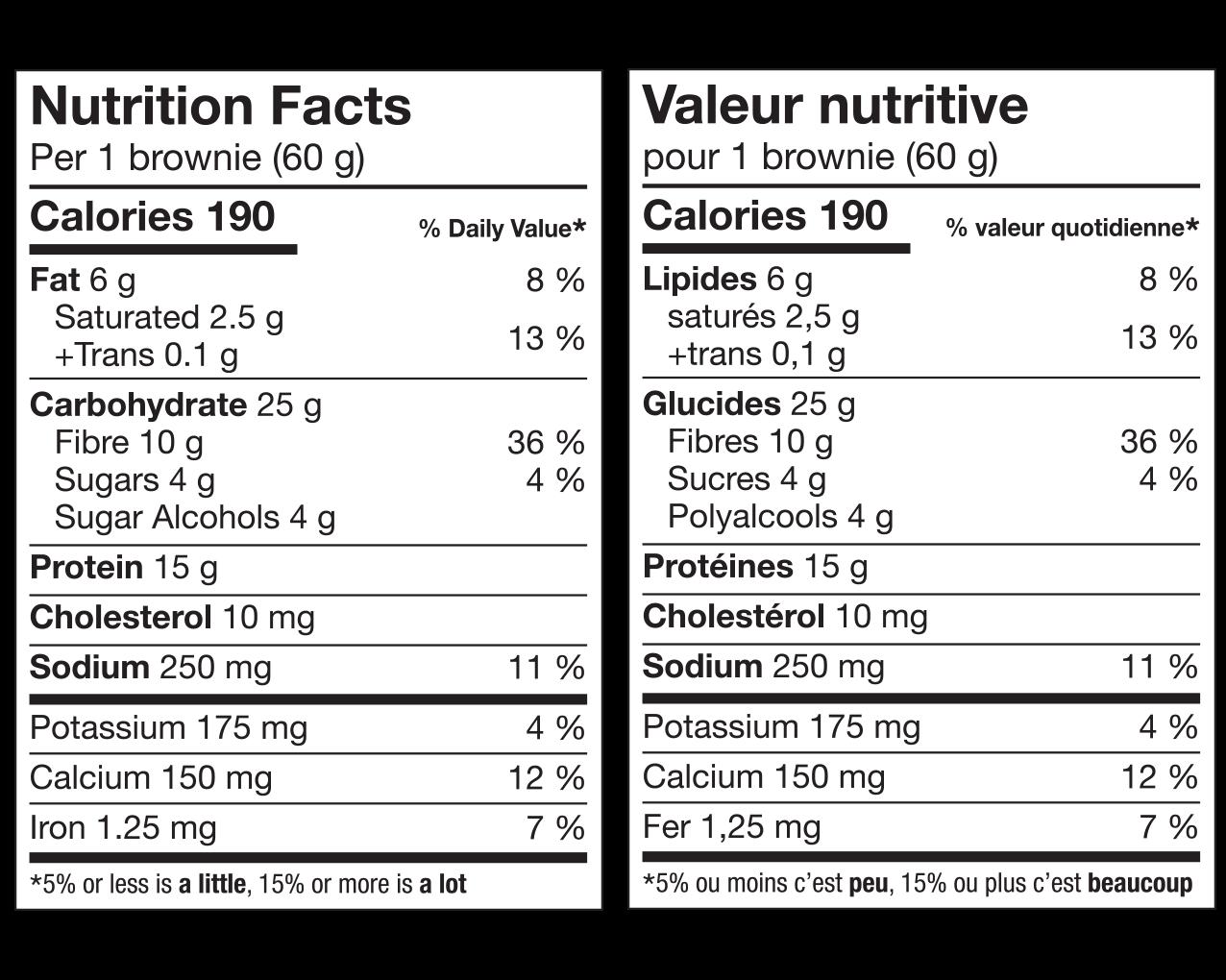 IdealProtein-Brownie-doublement-chocolaté-Valeur-Nutritive