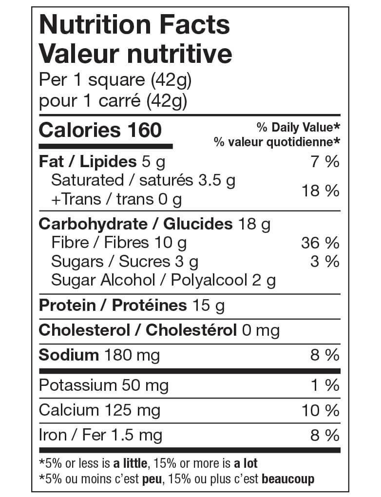 Ideal Protein Carré croustillant au chocolat Valeur Nutritive