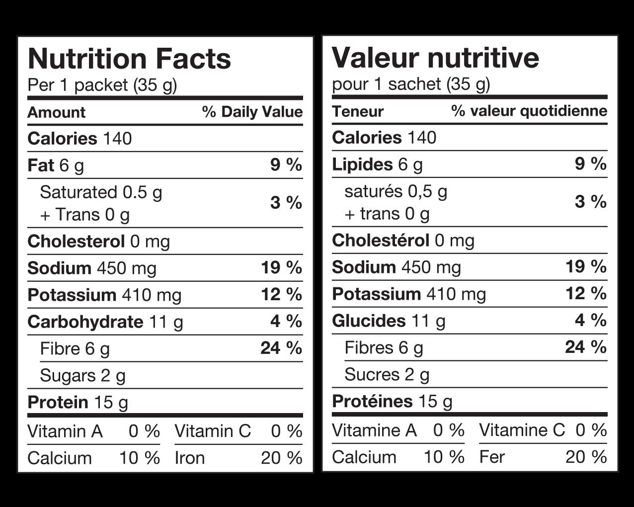 dealProtein-Dorados-au-fromage-nacho-Valeur-Nutritive