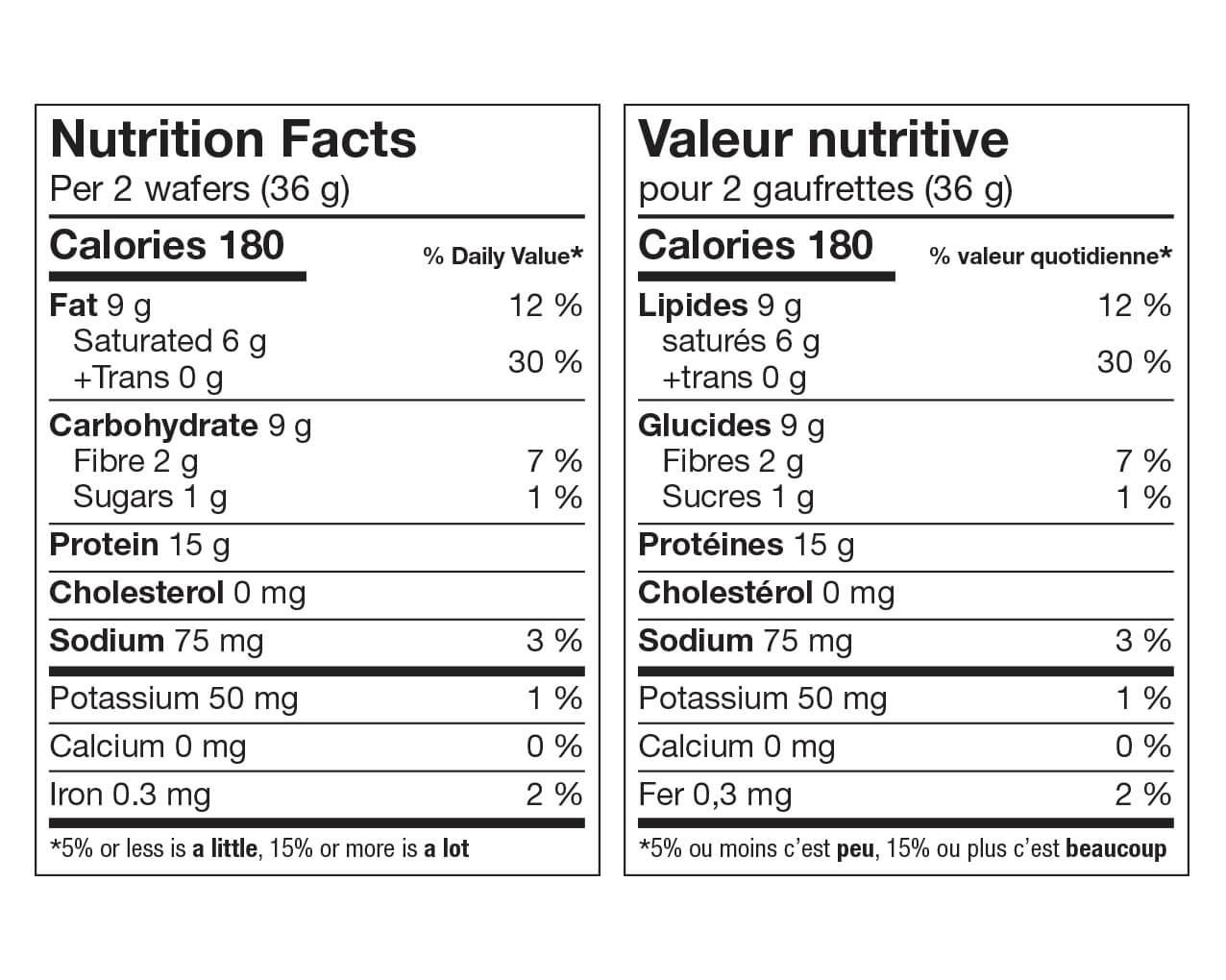 Ideal Protein Gaufrette fraise Valeur Nutritive