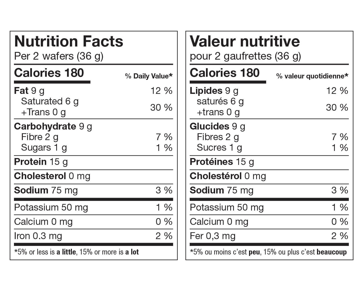 Ideal Protein Gaufrette vanille Valeur Nutritive