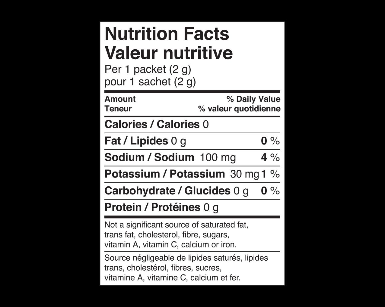 IdealProtein-Mangoustan-aromatisant-eau-en-poudre-Valeur-Nutritive