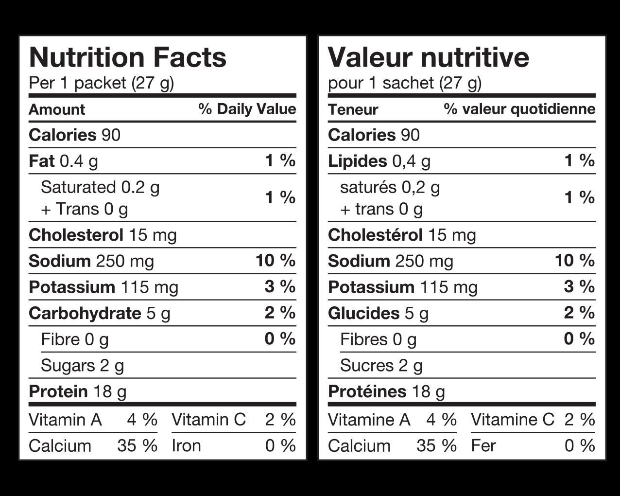 IdealProtein-Préparation-Pouding-a-la-vanille-Valeur-Nutritive