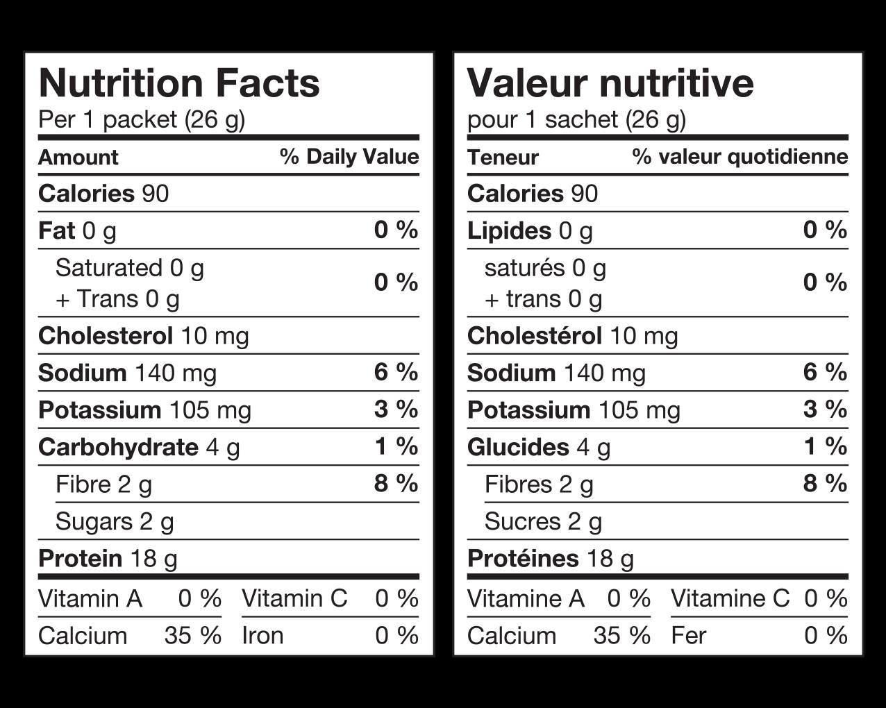 IdealProtein-Préparation-pour-boisson-à-la-vanille-Valeur-Nutritive