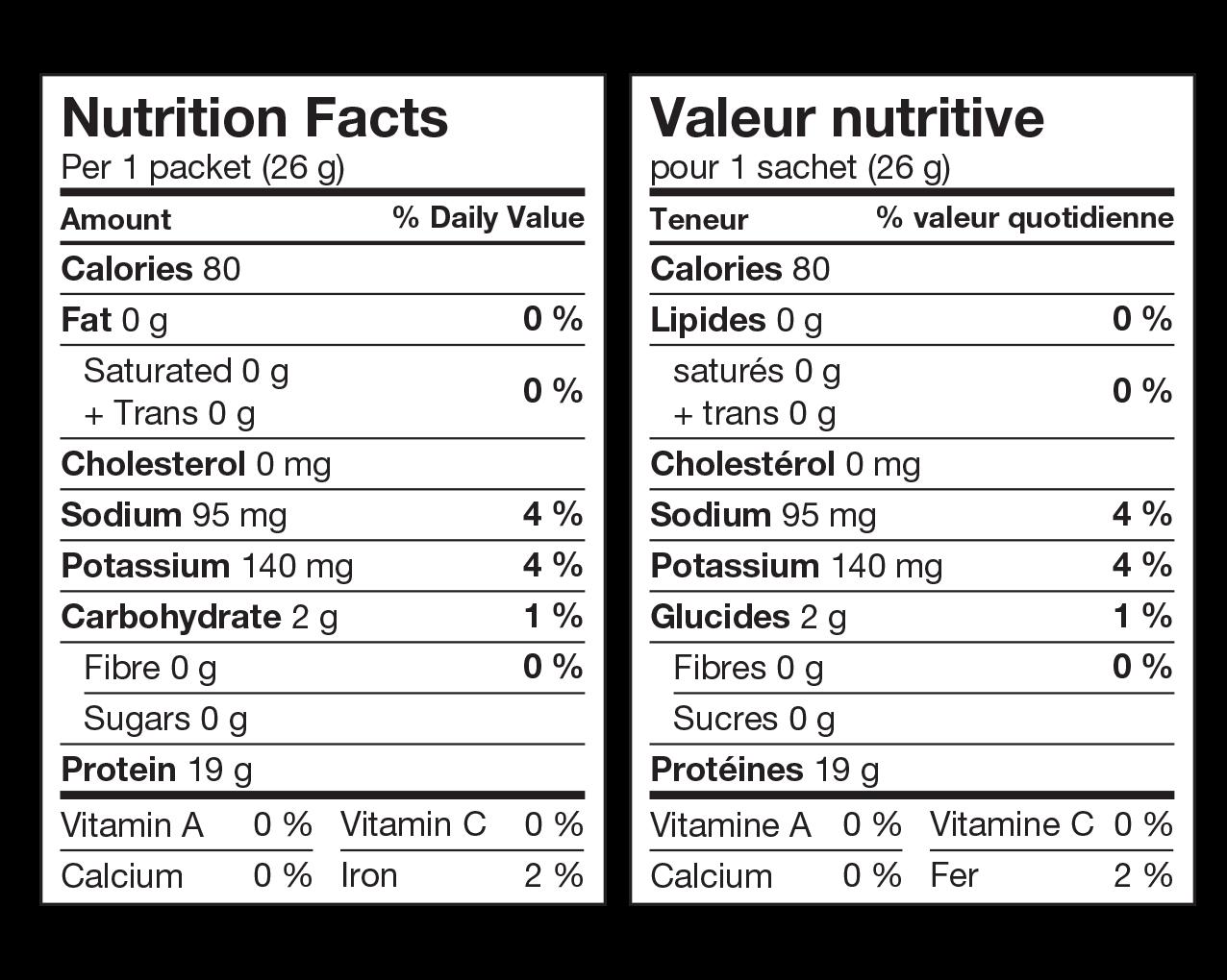 Ideal Protein Préparation Pour Gelée Aux Framboises Valeur Nutritive