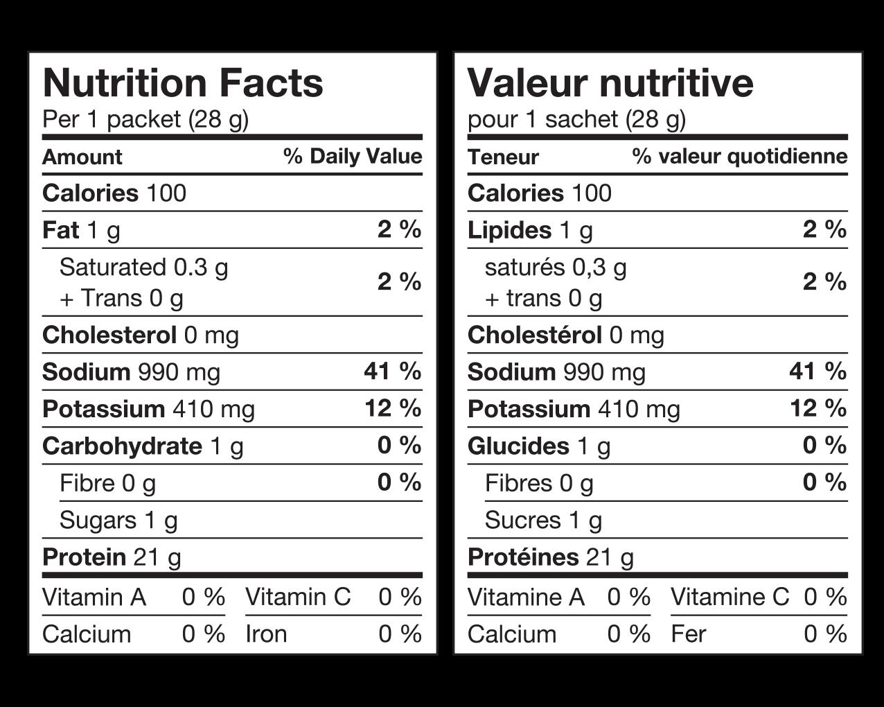 Ideal Protein Préparation pour soupe au poulet Valeur Nutritive