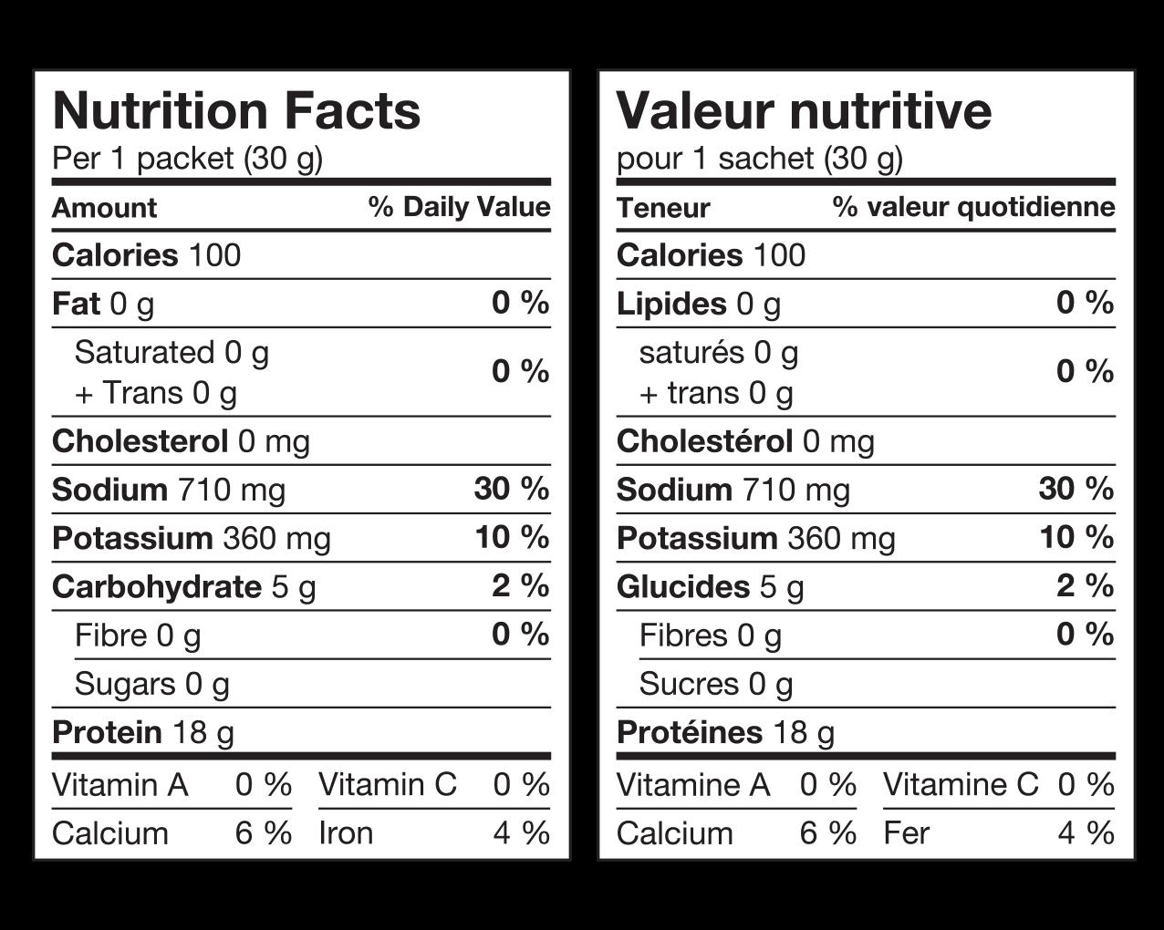 Ideal Protein Préparation pour soupe poulet et nouilles Valeur Nutritive