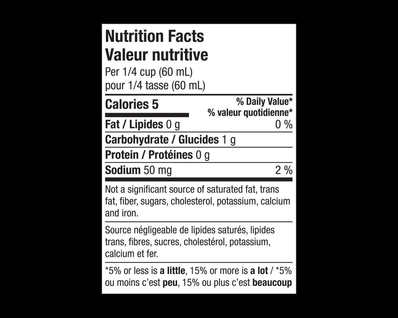 IdealProtein-Sirop-à-saveur-dérable-Valeur-Nutritive