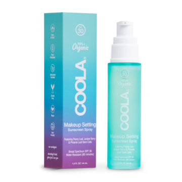 Organic Spray Sunscreen and Makeup Setting SPF 30 from Coola