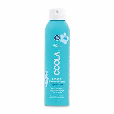 Body Spray Fragrance Free Sun Protection SPF 50