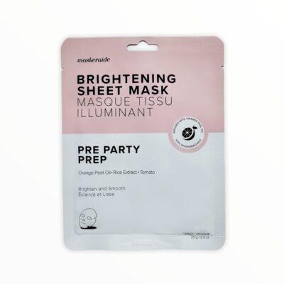 MaskerAide Masque Tissu Éclaircissant Pre Party Prep